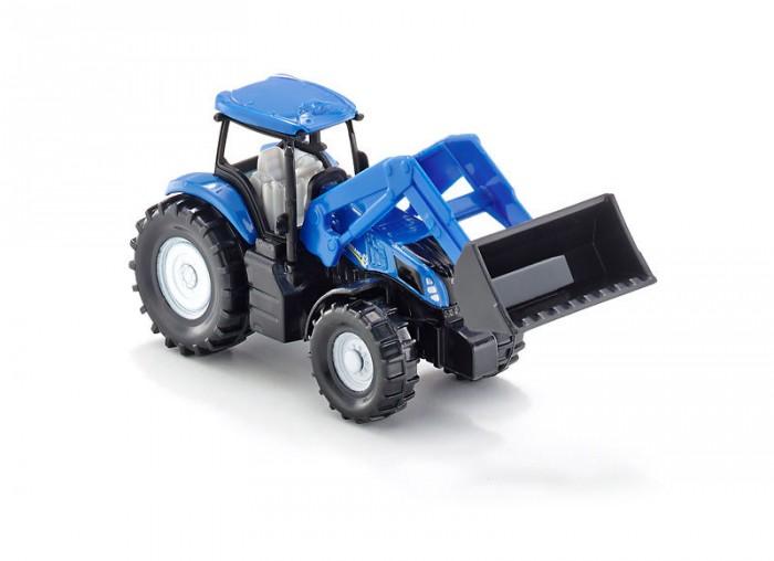 Машины Siku Трактор Holland с фронтальным погрузчиком машины tomy трактор john deere monster treads с большими резиновыми колесами