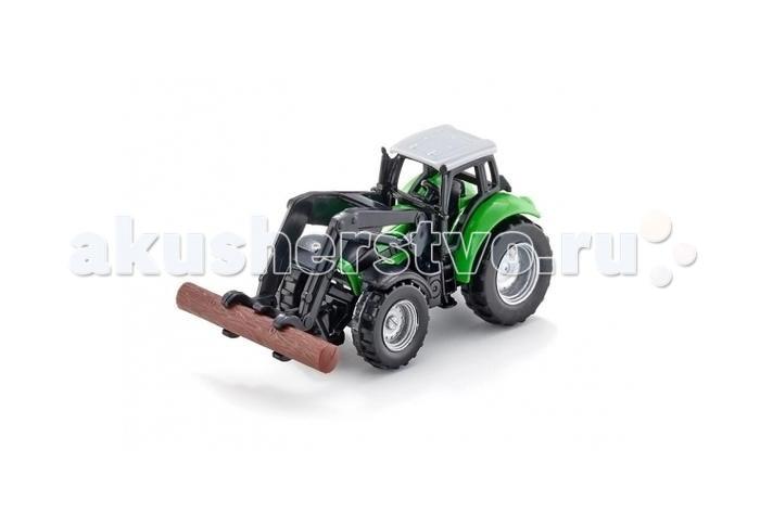 Машины Siku Трактор с захватом для бревен 1380 siku трактор deutz agrotron с захватом для бревен