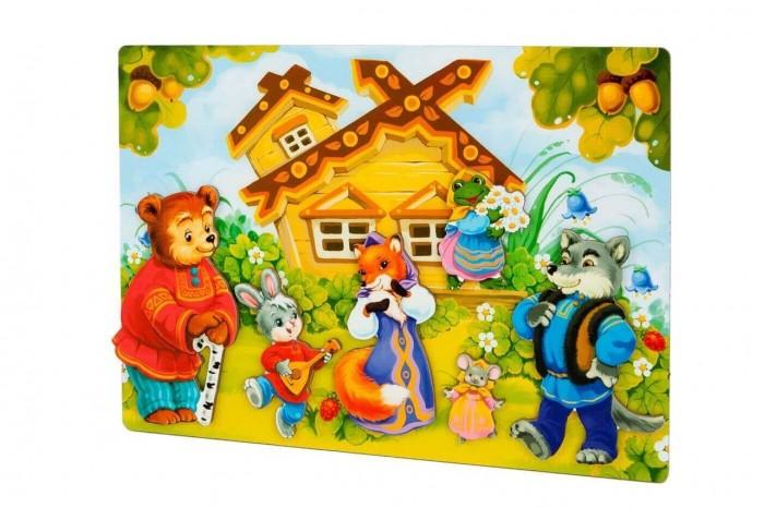 Деревянные игрушки Mr.Bigzy Магнитная игра Сказки Теремок, Деревянные игрушки - артикул:553146