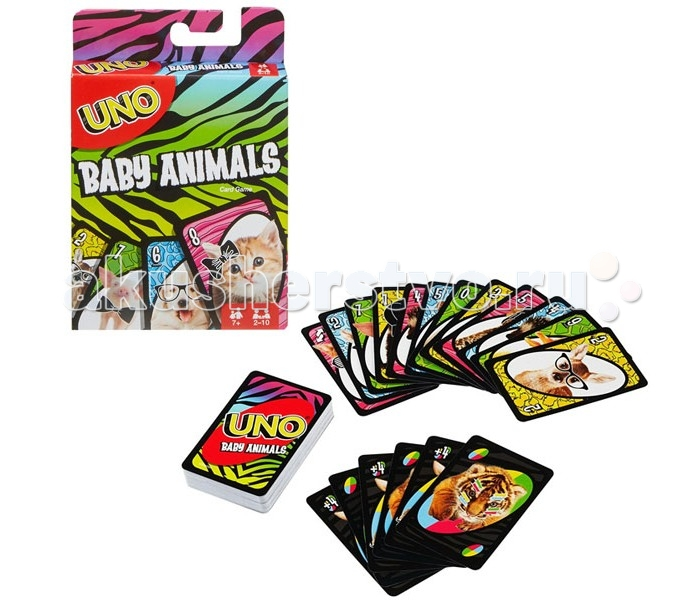 Настольные игры Mattel Games Настольная игра Уно Маленькие животные mattel карточная игра уно monster high mattel games