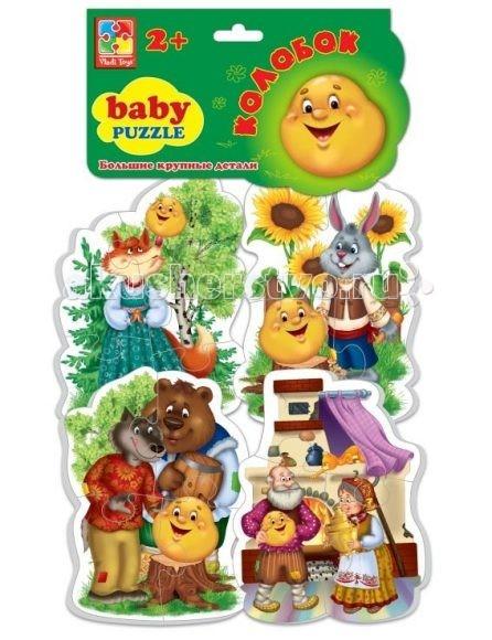 Пазлы Vladi toys Baby Puzzle Колобок суперраскраска герои любимых сказок