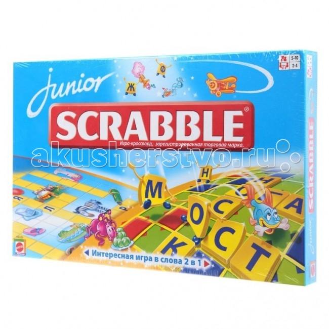 Настольные игры Scrabble Mattel Настольная игра Scrabble Junior