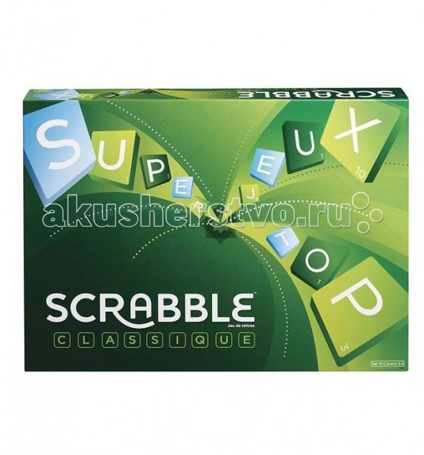 Scrabble Mattel Настольная игра Scrabble классический