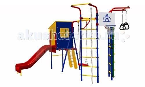 Спортивные комплексы Romana Детский спортивный комплекс Карусель 3.3.14.21 Скалодром 14 с домиком