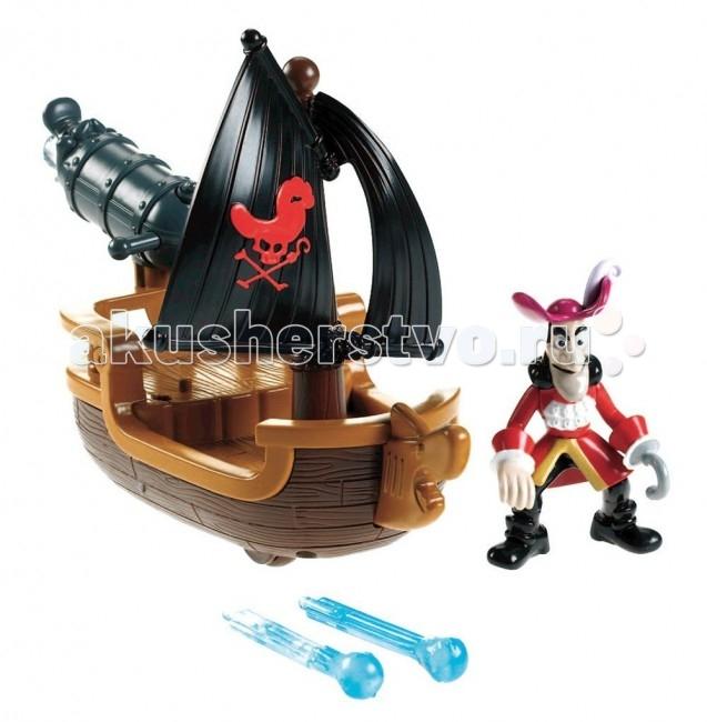 Игровые наборы Fisher Price Mattel Игровой набор Джейк и пираты Нетландии Лодка для пиратских сражений fisher price mattel пирамида сложите и исследуйте блоки