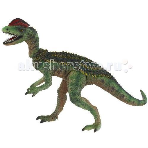 Bullyland Фигурка динозавр Дилофозавр с подвижной головой и лапами 18 см
