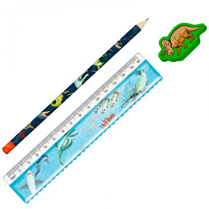 Канцелярия Spiegelburg Канцелярский набор T-Rex (карандаш, линейка, ластик) jd коллекция набор линейка дефолт