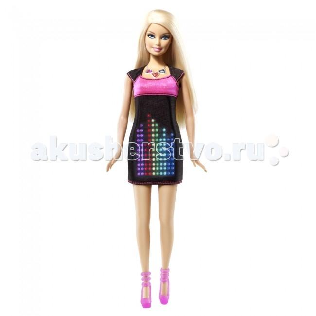 Barbie в электронном платьев электронном платьеКукла Barbie в электронном платье никого не оставим равнодушным!   Само платье имеет 4.5-дюймовый экран и 114 трехцветных светодиодов, которые могут выстраиваться в различные композиции в зависимости от выбранных графических объектов. Например, в форме сердца или фейерверка. При помощи стилуса можно нарисовать свой объект.   Эта неповторимая куколка удивит своим нарядом не только детей, но и взрослых!<br>