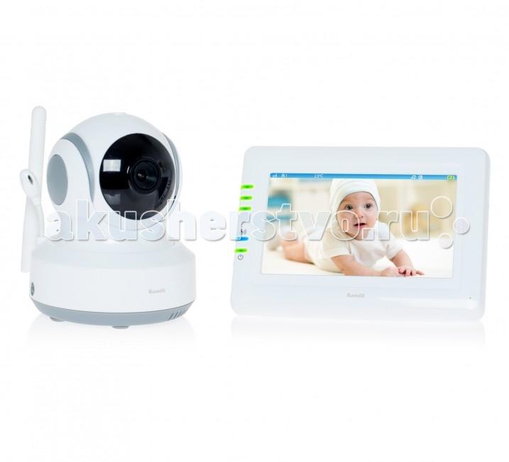 Ramili Видеоняня Baby RV900Видеоняня Baby RV900Видеоняня Ramili Baby RV900 представляет из себя надежное и безопасное устройство для удаленного наблюдения за ребенком, которое обеспечивает стабильную и приватную цифровую связь. Кроме основных характеристик, обеспечивающих стабильный мониторинг, видеоняня оснащена набором дополнительных функций, которые создают особенный комфорт родителям и безопасность для малыша.  Видеоняня Ramili Baby RV900 с дальностью приёма до 300 метров и системой подавления помех от известного английского производителя товаров для детей. Устройство оснащено сенсорным экраном диагональю 11 см и управляемой удаленно поворотной камерой. Современная цифровая технология надежной и защищенной связи между родительским и детским блоками обеспечивает безопасность и 100% приватность.   Видеоняня Ramili Baby RV900 оснащена системой активации при обнаружении плача (VOX) с настройкой чувствительности, которая позволяет экономить заряд аккумулятора и которую можно отключить для непрерывного мониторинга. Также в видеоняню Ramili встроен «умный» детектор движения, благодаря которому камера, отслеживая движение ребенка, автоматически поворачивается вслед за ним. Так что ваш малыш точно не выйдет из кадра.  Особенности: Дальность приёма до 300 метров Дисплей 11 см (4,3 дюйма) Двухсторонняя связь Удаленное управление поворотом камеры Активация при обнаружении плача (VOX) с настройкой чувствительности и оповещением Возможен непрерывный мониторинг Световая индикация громкости плача Детектор движения Автоматический поворот камеры за передвижением ребенка Сенсорный экран Ночное видение Система защиты от помех Система преодоления преград Защищенная связь (100% приватность) Цифровой зум Колыбельные мелодии Таймер кормления Термометр измеряет температуру воздуха в детской, значение отображается на экране родительского блока Регулировка яркости экрана Подключение до 4 камер Автоматическое или ручное переключение между камерами Ёмкий аккумулятор внутри родительского бло
