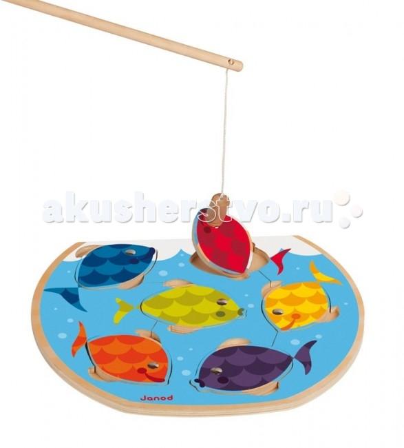 Игры для малышей Janod Игра магнитная с удочкой Скоростная рыбалка janod беговел голубой с оранжевым с 3лет