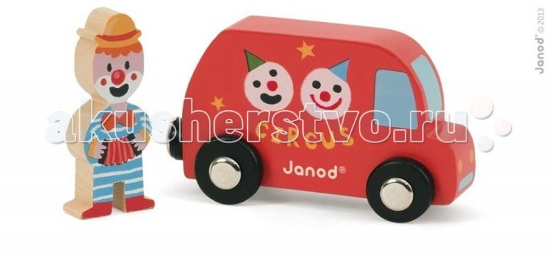 Деревянная игрушка Janod Набор Фургон цирк с клоуном