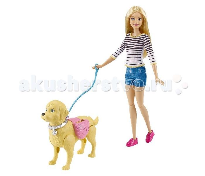 Куклы и одежда для кукол Barbie Игровой набор Прогулка с питомцем, Куклы и одежда для кукол - артикул:558986