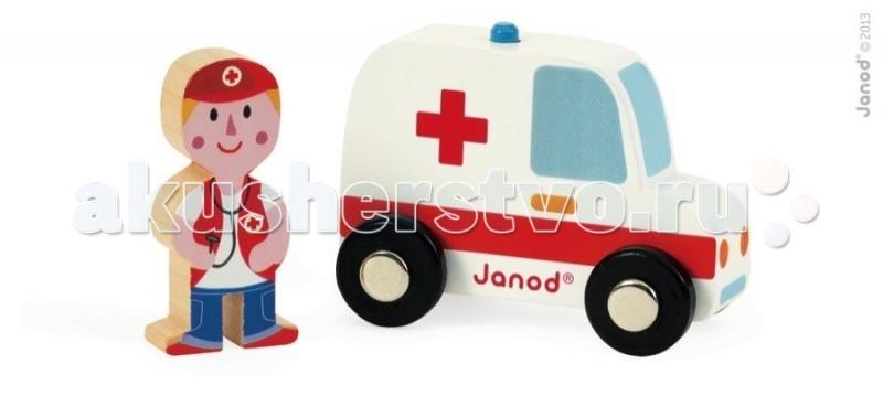 Деревянная игрушка Janod Набор Скорая помощь и доктор