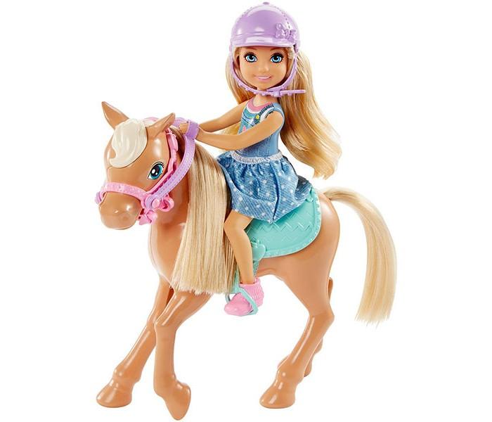 где купить Куклы и одежда для кукол Barbie Кукла Челси и пони дешево