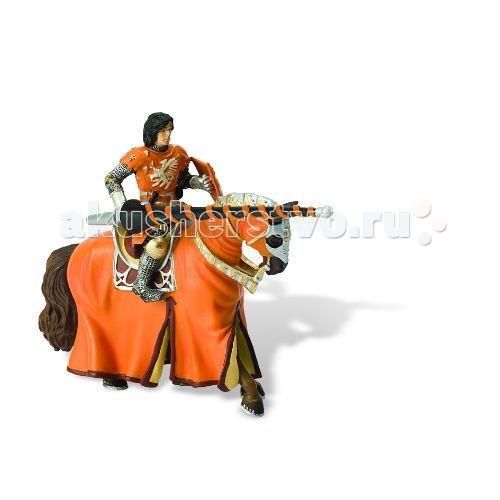 Игровые фигурки Bullyland Фигурка оранжевый рыцарь на турнире на коне