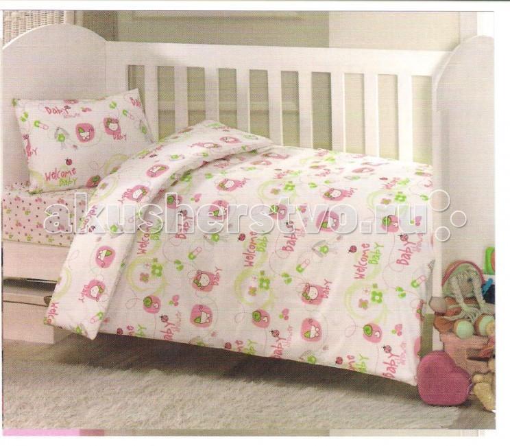 Комплект в кроватку Ups Pups Малыш (6 предмета)Малыш (6 предмета)Постельный набор в детскую кроватку Ups Pups Малыш (6 предмета) состоит из 6 предметов.   Наполнитель 100% Hollofil allerban (антибактериальный, антиклещевой и противогрибковый наполнитель, который заботится о состоянии здоровья малыша).  В комплект входит: пододеяльник (100 х 140 см) одеяло (100 х 140 см) наволочка (40 х 60 см) подушка (40 х 60 см) простынь на резинке (60х120+16 см) бампер - 4 части (360 х 45см).<br>