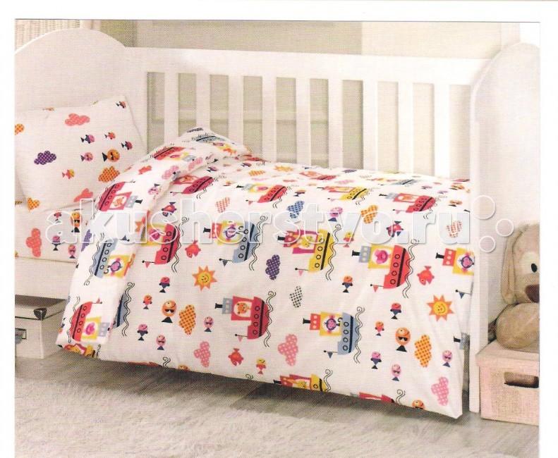 Комплект в кроватку Ups Pups Пароход (6 предмета)Пароход (6 предмета)Постельный набор в детскую кроватку Ups Pups Пароход (6 предмета) состоит из 6 предметов.   Наполнитель 100% Hollofil allerban (антибактериальный, антиклещевой и противогрибковый наполнитель, который заботится о состоянии здоровья малыша).  В комплект входит: пододеяльник (100 х 140 см) одеяло (100 х 140 см) наволочка (40 х 60 см) подушка (40 х 60 см) простынь на резинке (60х120+16 см) бампер - 4 части (360 х 45см).<br>