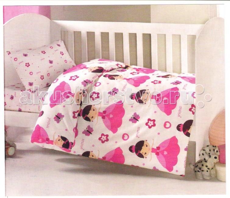 Комплект в кроватку Ups Pups Принцесса (6 предмета)Принцесса (6 предмета)Постельный набор в детскую кроватку Ups Pups Принцесса (6 предмета) состоит из 6 предметов.   Наполнитель 100% Hollofil allerban (антибактериальный, антиклещевой и противогрибковый наполнитель, который заботится о состоянии здоровья малыша).  В комплект входит: пододеяльник (100 х 140 см) одеяло (100 х 140 см) наволочка (40 х 60 см) подушка (40 х 60 см) простынь на резинке (60х120+16 см) бампер - 4 части (360 х 45см).<br>