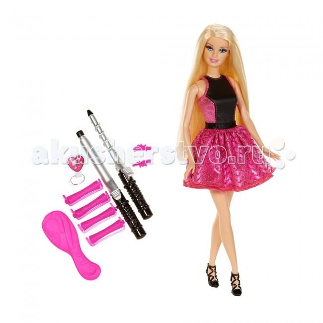 Barbie Бесконечные завиткиБесконечные завиткиКукла Barbie Бесконечные завитки - это превосходная возможность в полной мере почувствовать себя настоящей стилисткой!  Чудесные волосы куклы легко поддаются закрутке или завивке волос специальными утюжками (в комплекте) которые не используют тепла и электричества, а следовательно безопасны для ребенка. Хочется экспериментов? Тогда всего-лишь нужно расчесать волосы расческой (в комплекте) и начать заново!   Прически делаются легко и непринужденно, завитки, локоны или прямые волосы - полная свобода творчества и фантазии. Волосы легко поддаются укладке без тепла, воды или специальных средств. В наборе также есть заколки, валики и многое другое.   Этот набор станет превосходным подарком для Вашей девочки!  В комплекте: кукла 2 утюжка 2 заколки расческа валики резинка<br>