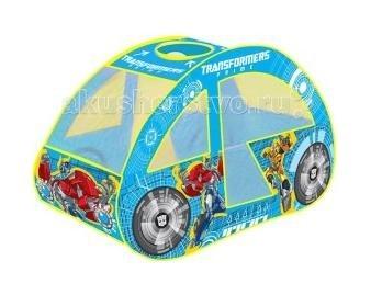 Палатки-домики Играем вместе Игровая палатка Transformers машинка в сумке