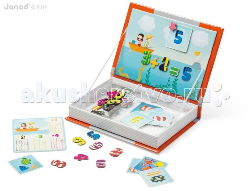 Книжки , Книжки-игрушки Janod Магнитная книга 1,2,3 арт: 56052 -  Книжки-игрушки