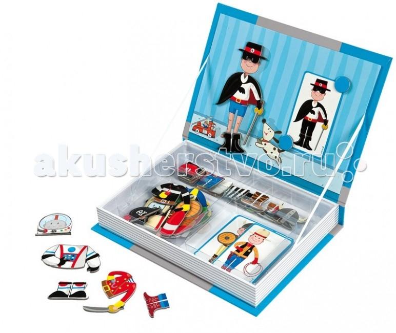 Книжки-игрушки Janod Магнитная книга Мальчик, Книжки-игрушки - артикул:56058