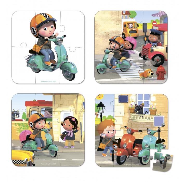 Пазлы Janod Пазл Я - на скутере janod пазл объемный семья зайчат 5эл