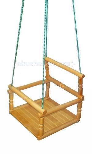 Качели KMS-sport деревянные детские подвесные качели