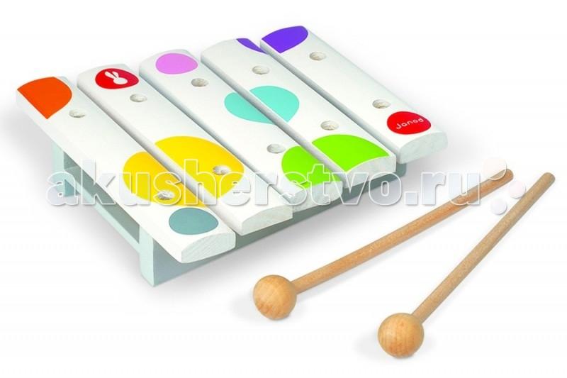 Музыкальные игрушки Janod Мини ксилофон  недорого