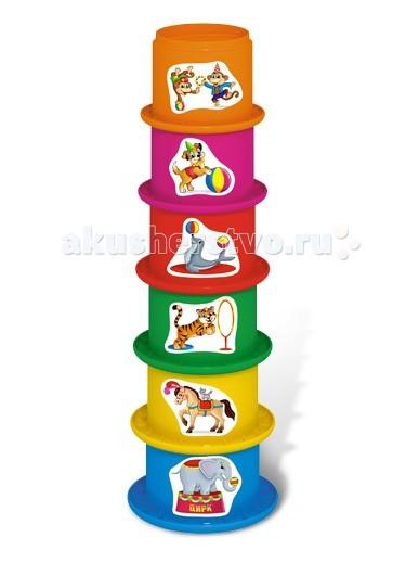 Развивающие игрушки Стеллар Пирамидка Цирк развивающие игрушки стеллар пирамида занимательная большая