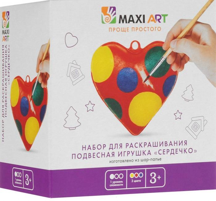 Заготовки под роспись Maxi Art Набор для раскрашивания Подвесная Игрушка Сердечко