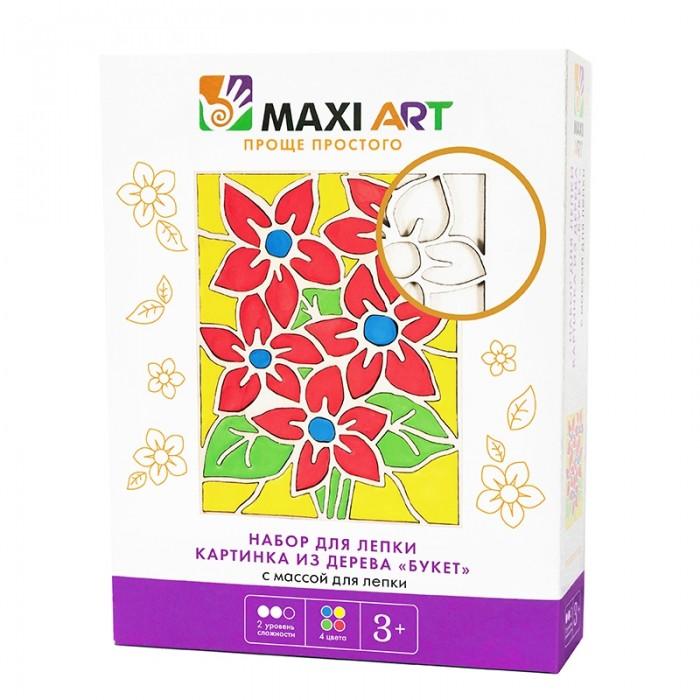 Всё для лепки Maxi Art Набор для лепки Картинка из Дерева Букет