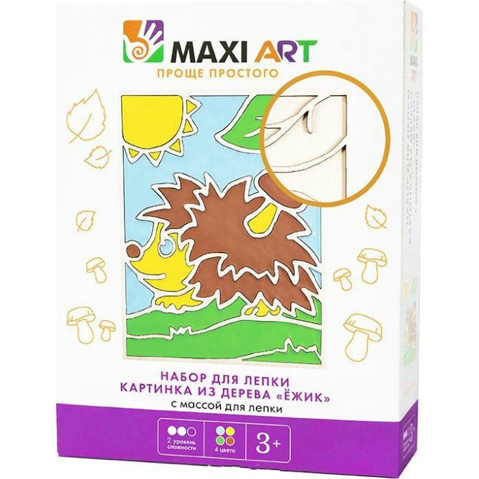 Всё для лепки Maxi Art Набор для лепки Картинка из Дерева Ёжик