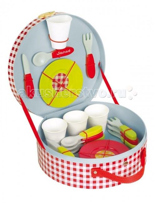 Ролевые игры Janod Набор посуды Пикник