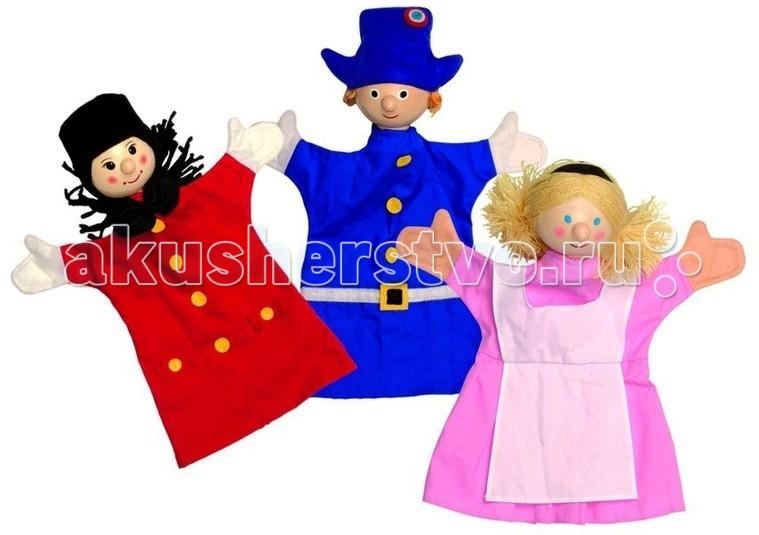 Janod Набор перчаточных кукол Петрушка и его друзья 3 шт.