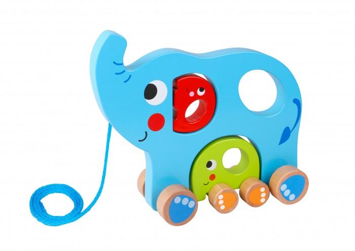 Каталки-игрушки Tooky Toy Слоненок спортивный инвентарь tooky toy игра кольца