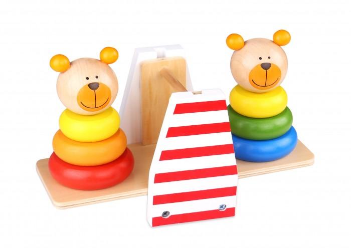Деревянные игрушки Tooky Toy Игра баланс Медвежата букет из игрушек toy bouquet медвежата цвет красный 3 игрушки