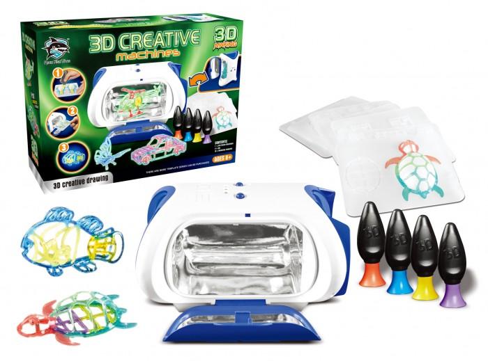 Наборы для творчества Fitfun Toys Принтер детский с набором картриджей и светящимся жидким полимером Y6601