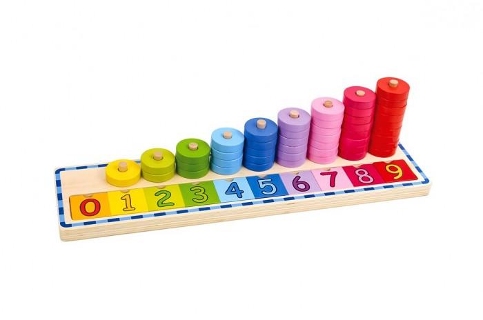 Деревянные игрушки Tooky Toy Сотрет Учимся считать