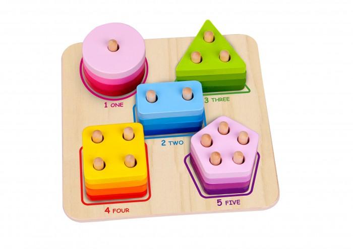 Деревянная игрушка Tooky Toy Сортер Геометрические фигуры