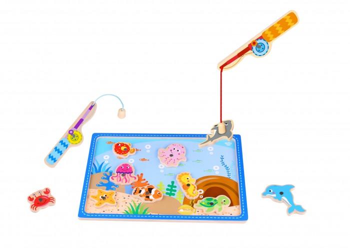 Фото - Деревянные игрушки Tooky Toy Игра Рыбалка деревянные игрушки topbright магнитная игра рыбалка 26 элементов