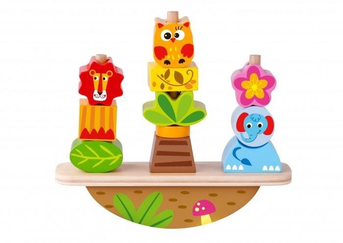 Деревянная игрушка Tooky Toy Игра-баланс Животные фото