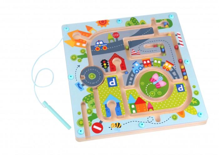 Деревянные игрушки Tooky Toy Магнитная игра Городок спортивный инвентарь tooky toy игра кольца