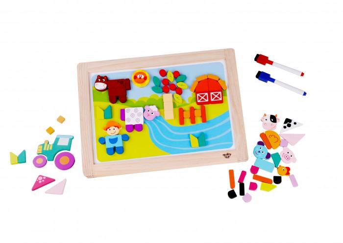 Деревянная игрушка Tooky Toy Магнитная игра Ферма фото