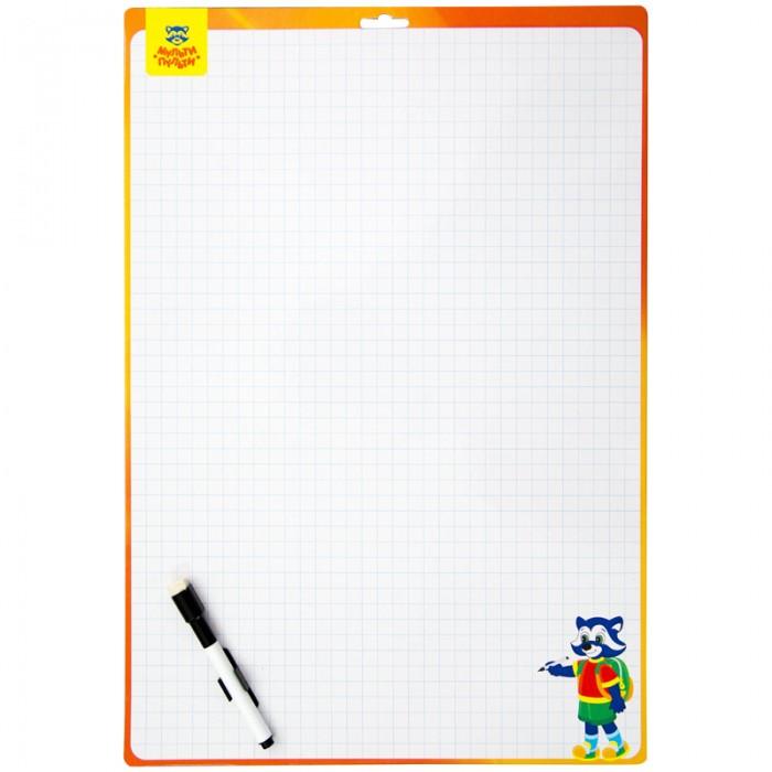 Доски и мольберты Мульти-пульти Доска для рисования с маркером двухсторонняя 24х34 см цена