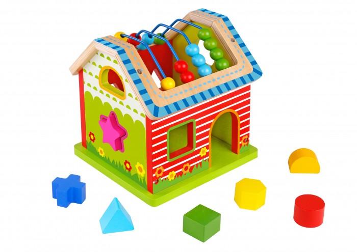 Деревянные игрушки Tooky Toy Сортер Домик