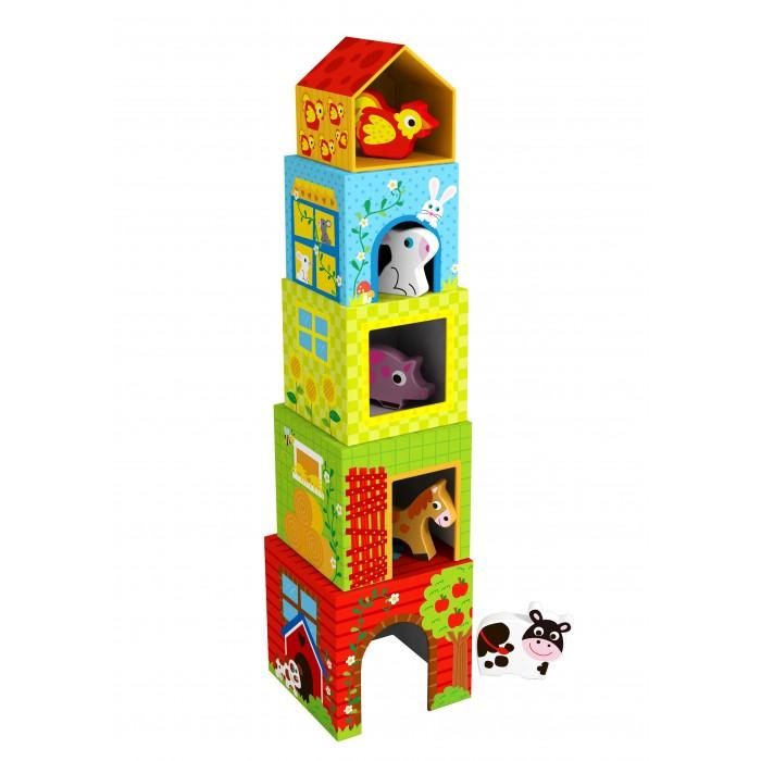 Деревянная игрушка Tooky Toy Кубики Ферма