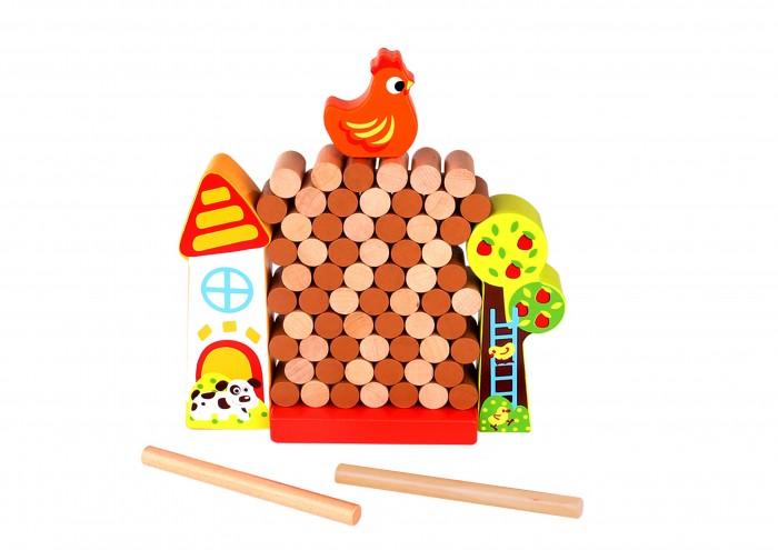 Деревянные игрушки Tooky Toy Развивающая игра баланс Курочка спортивный инвентарь tooky toy игра кольца