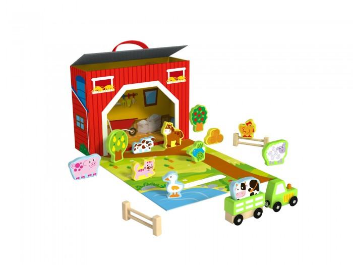 Деревянная игрушка Tooky Toy Чемоданчик Ферма