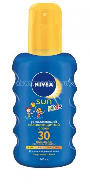 Солнцезащитные средства Nivea Спрей солнцезащитный цветной SPF30 200 мл nivea солнцезащитный лосьон для детей играй и купайся сзф 30 150 мл
